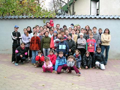 Gruppenfoto Kinderheim